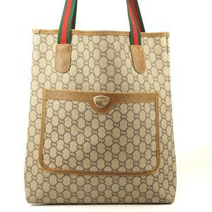 Auth Gucci Plus Gg Pattern Tote Bag #4183G11